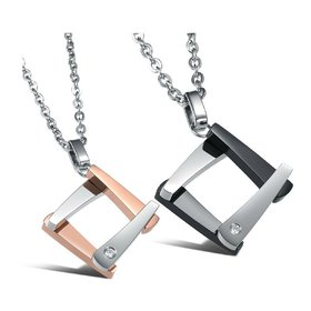 Wholesale The new fashion gift stainless steel couples Necklace TGSTN047
