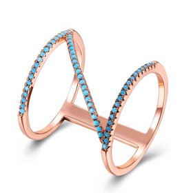 Wholesale Trendy Rose Gold vintage wheel shape High Quality Natural Turquoise Rings for Women Trendy Jewelry Gifts TGNSR019