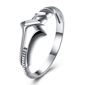 Hot Sale 100% 925 Sterling Silver Rings Wholesale popular arrow lucky Rings For Women Jewelry Making free shipping