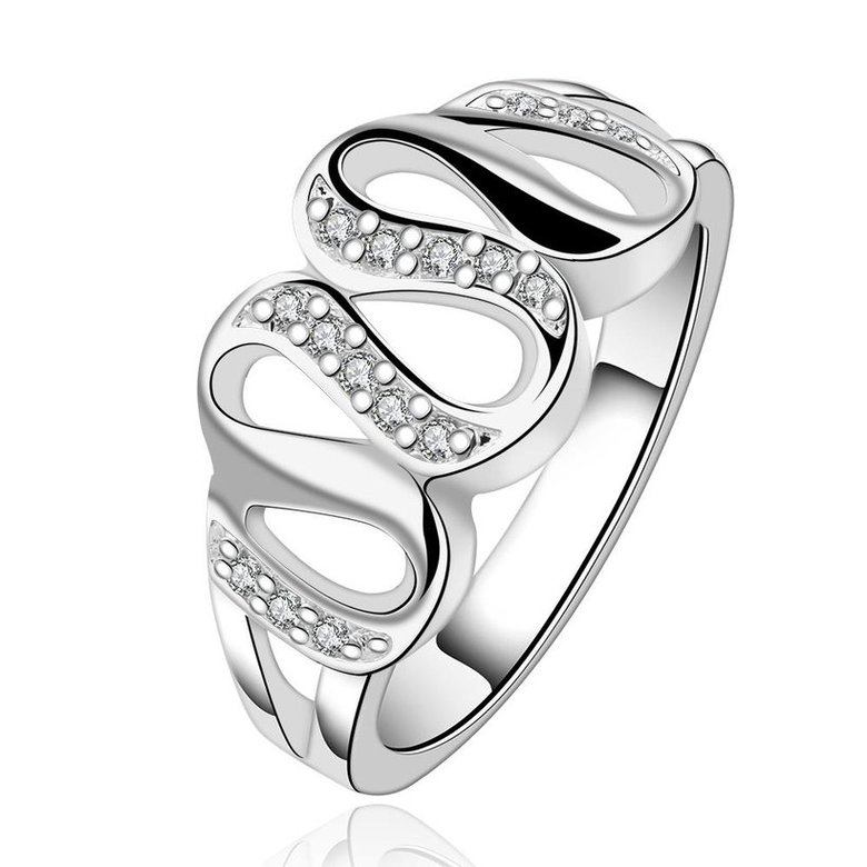 Wholesale Luxury classic Silver Plated Hot Sell Creative Zircon Ring for Women SPR563