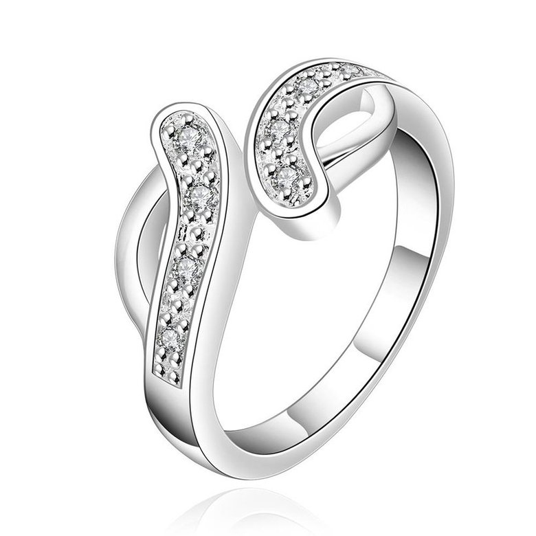 Wholesale New Creative Trendy Silver Plated Hot Sell Zircon Ring for Women SPR575