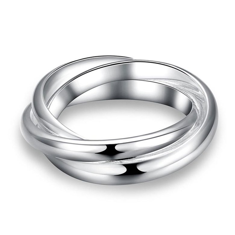 Wholesale Classic Exquisite Design  Silver Plated Copper Round Ring for Unisex SPR579