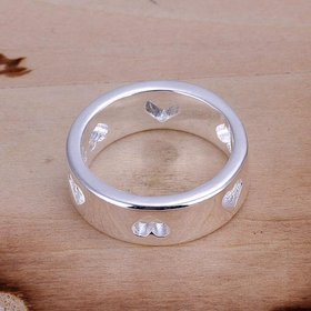 Wholesale Romantic Fashion finger jewelry Heart Shaped Ring for Women SPR585