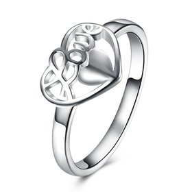 Wholesale Fashion Elegant Design Silver Plated Heart Shaped Ring for Women wedding jewelry SPR603