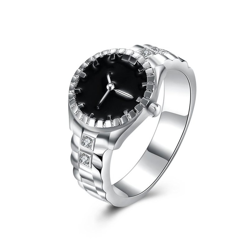Wholesale Creative Watch shaped Fashion Ring Personality Lovers Ring Exquisite Jewelry Lovers Ring Hot Sale SPR610
