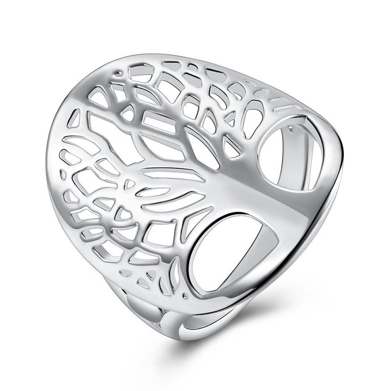 Wholesale Creative Design Silver Plated Tree of Life Rings for Women Classic Accessories Jewelry New Mother's Day Mom Gifts SPR626