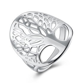 Creative Design Silver Plated Tree of Life Rings for Women Classic Accessories Jewelry New Mother's Day Mom Gifts