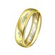 Wholesale Classic Silver Round Gold CZ Ring TGGPR832