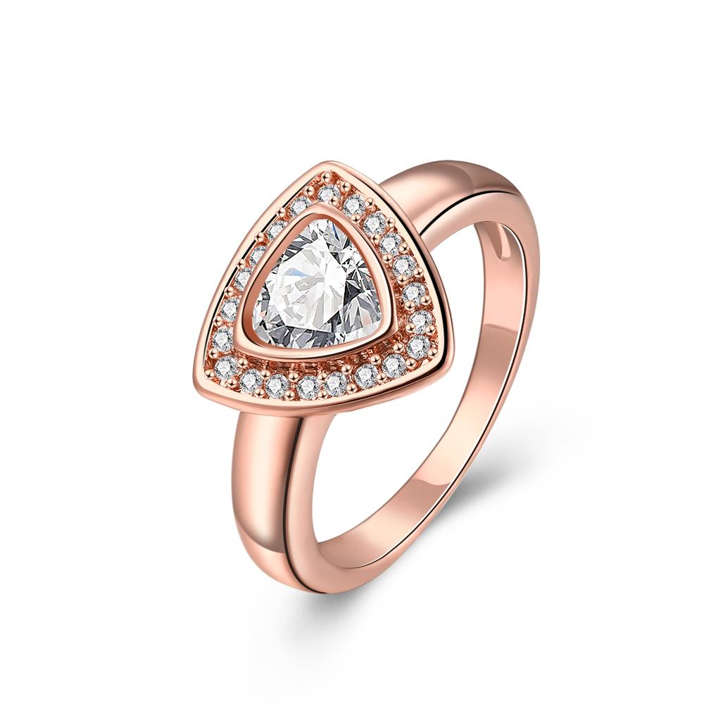 Wholesale Classic Rose Gold Geometric Multicolor CZ Ring TGGPR387