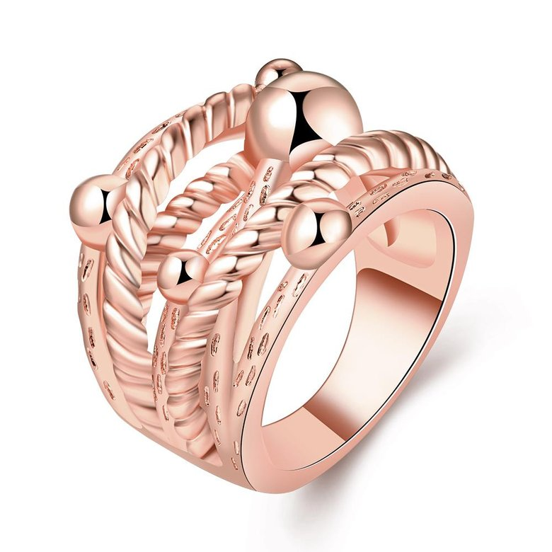 Wholesale Classic Rose Gold Geometric Ring TGGPR427