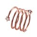 Wholesale Romantic Rose Gold Round White CZ Ring TGGPR1318
