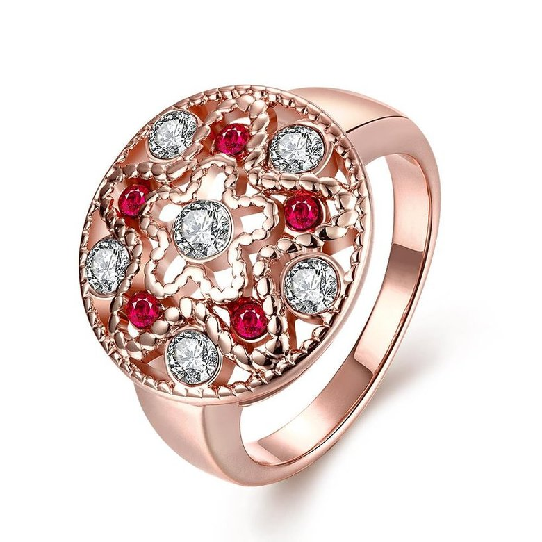 Wholesale Classic Rose Gold Star White Rhinestone Ring TGGPR1200