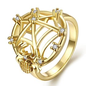 Wholesale Classic 24K Gold Insect White CZ Ring TGGPR1356