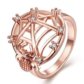 Wholesale Classic Rose Gold Insect White CZ Ring TGGPR1360