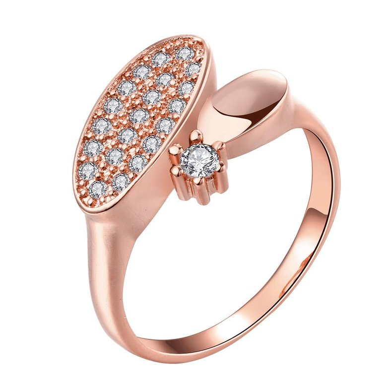 Wholesale Classic Rose Gold Round White CZ Ring TGGPR577