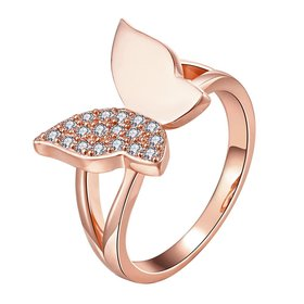 Wholesale Classic Rose Gold Insect White CZ Ring TGGPR611