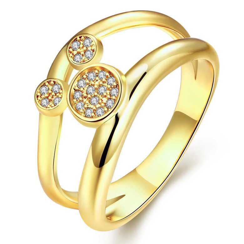 Wholesale Classic 24K Gold Animal White CZ Ring TGGPR363