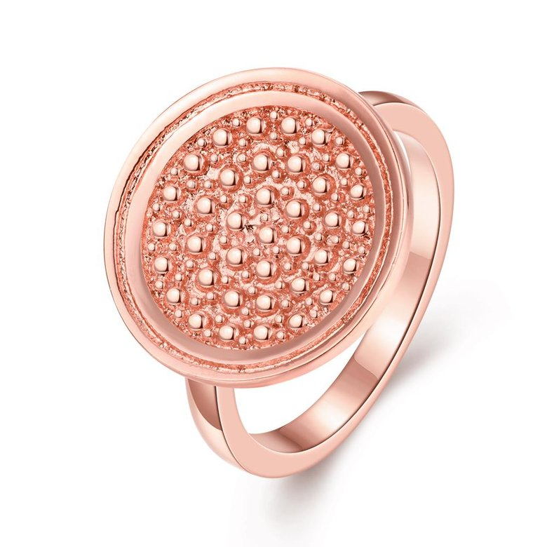 Wholesale Punk Rose Gold Round Ring TGGPR1174