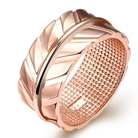 Wholesale Classic Rose Gold olive branch CZ Ring TGGPR003