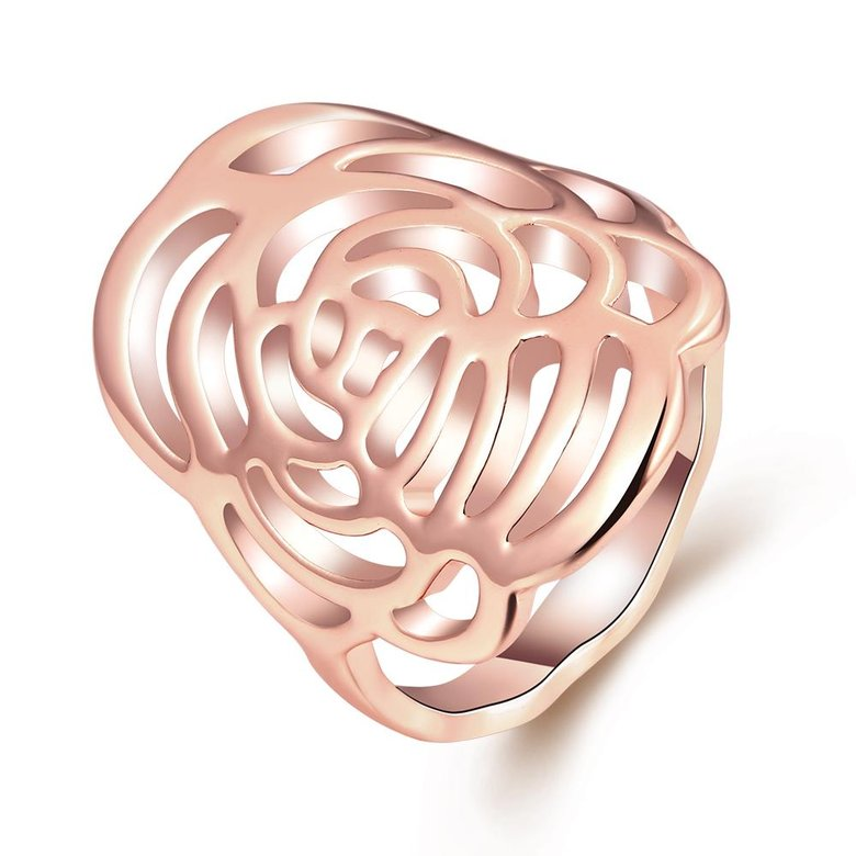Wholesale Trendy Rose Gold Plant Ring TGGPR1168