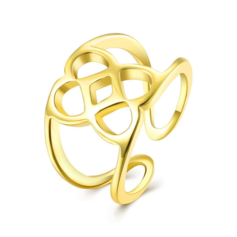 Wholesale Trendy Antique Gold Geometric Ring TGGPR379
