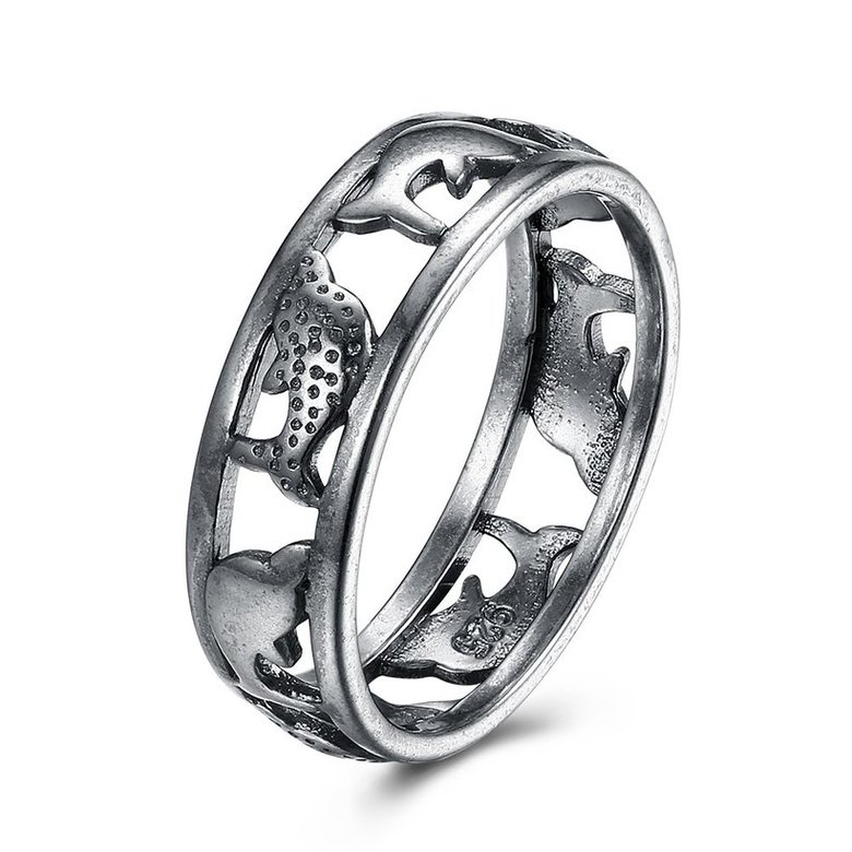 Wholesale Hot Sale Fashion Vintage Silve Dolphin rings Happy Women In Love Silver Plated Ring Accessories for unisex gift TGVGR009